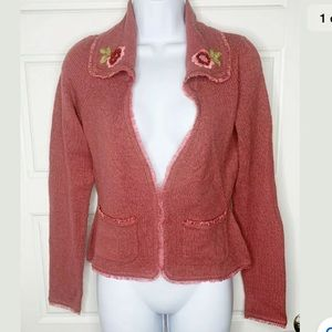 Betsey Johnson vintage 90's embroidered cardigan